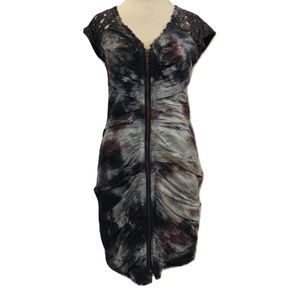 Catherine Malandrino ruched body con short dress 2